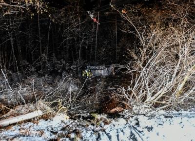 Bild des abgestürzten Kastenwagen